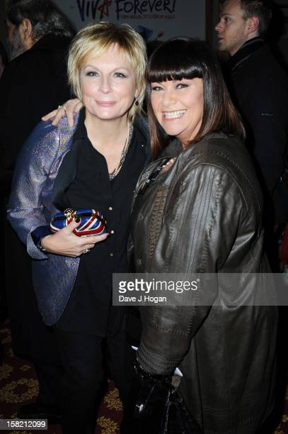 Jennifer Saunders and Dawn French attend the Viva Forever press night at The Piccadilly Theatre on December 11 2012 in London England