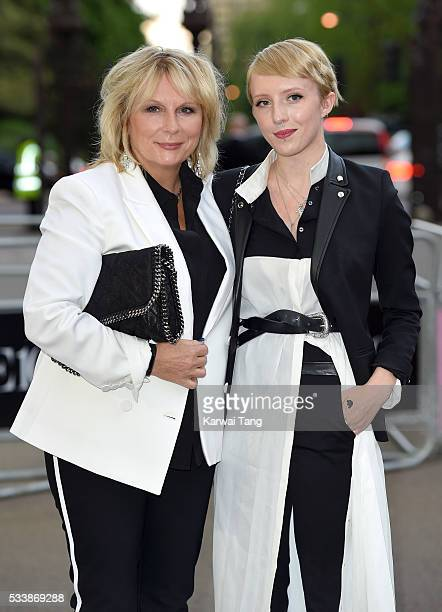Jennifer Saunders and Freya Edmondson arrive for the Gala to celebrate the Vogue 100 Festival at Kensington Gardens on May 23, 2016 in London,...