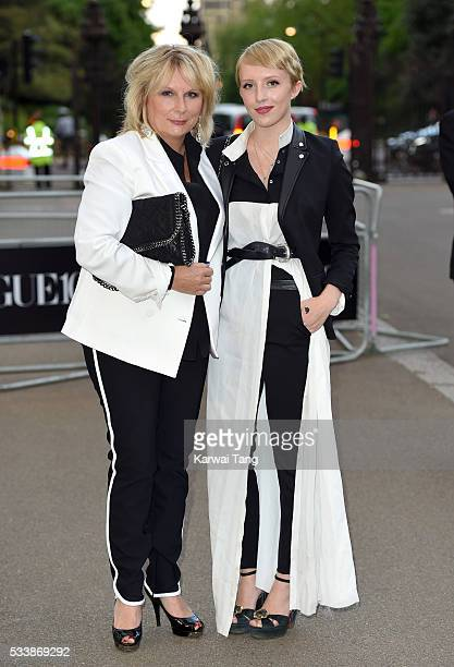 Jennifer Saunders and Freya Edmondson arrive for the Gala to celebrate the Vogue 100 Festival at Kensington Gardens on May 23 2016 in London England