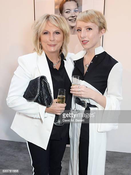 Jennifer Saunders and Freya Edmondson attend British Vogue's Centenary gala dinner at Kensington Gardens on May 23, 2016 in London, England.