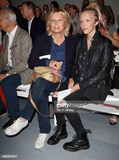 Jennifer Saunders and her daughter Freya Edmondson attend the Jasper Conran show during London Fashion Week Spring Summer 2015 at Somerset House on...