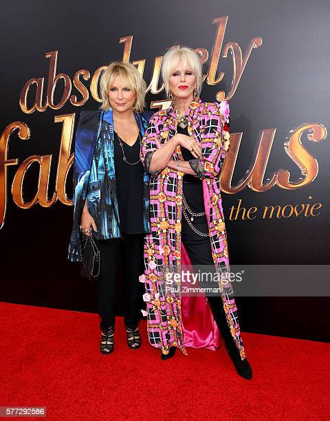 Jennifer Saunders and Joanna Lumley attend 'Absolutely Fabulous The Movie' New York Premiere at SVA Theater on July 18 2016 in New York City