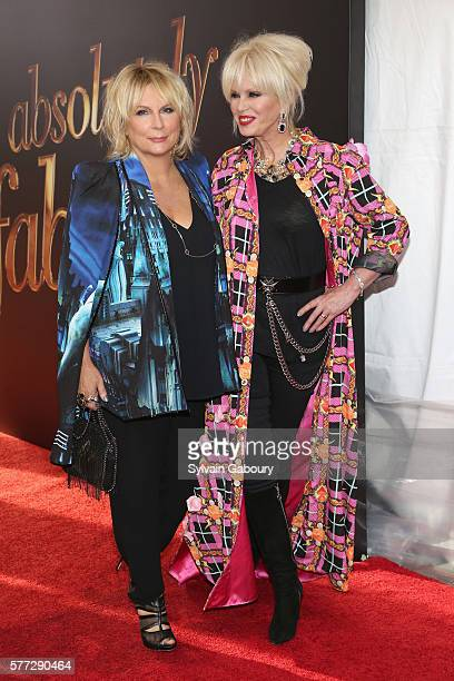 """Jennifer Saunders and Joanna Lumley attend Fox Searchlight Pictures presents the New York premiere of """"Absolutely Fabulous: The Movie"""" at SVA Theater..."""