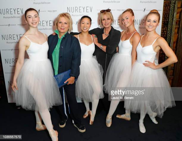 Jennifer Saunders and Joanna Lumley attend the UK Premiere of 'Nureyev' at The Curzon Mayfair on September 18 2018 in London England