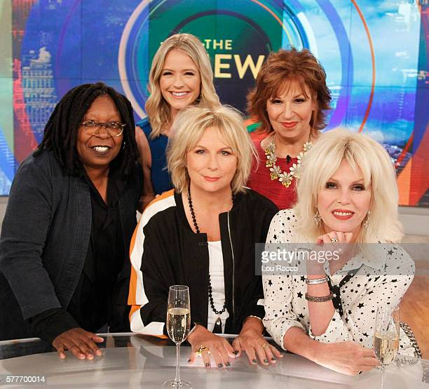 THE VIEW Jennifer Saunders and Joanna Lumley were the guests today Tuesday July 19 2016 on The View airing on the Walt Disney Television via Getty...