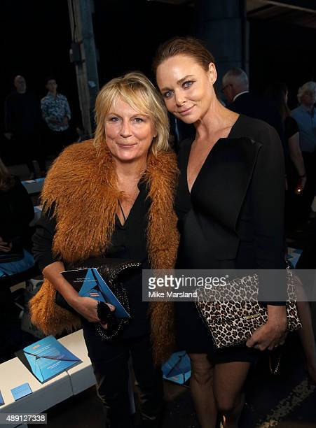 Jennifer Saunders and Stella McCartney attend the Hunter show during London Fashion Week Spring/Summer 2016/17 on September 19 2015 in London England