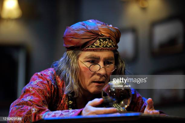 Jennifer Saunders as Madame Arcati in Noel Coward's Blithe Spirit directed by Richard Eyre at The Duke Of York's Theatre on March 06 2020 in London...