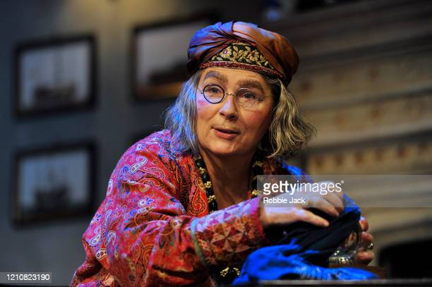 Jennifer Saunders as Madame Arcati in Noel Coward's Blithe Spirit directed by Richard Eyre at The Duke Of York's Theatre on March 06, 2020 in London,...