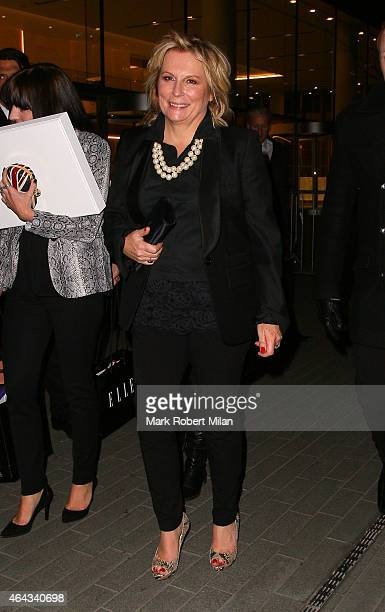 Jennifer Saunders attending the Elle Style Awards on February 24 2015 in London England