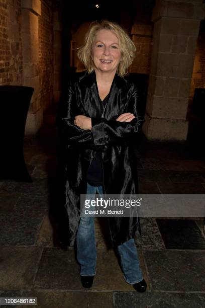 """Jennifer Saunders attends the press night after party for """"Blithe Spirit"""" at The Cafe at the Crypt on March 10, 2020 in London, England."""
