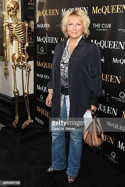 Jennifer Saunders attends the press night performance of 'McQueen' at the Theatre Royal Haymarket on August 27 2015 in London England
