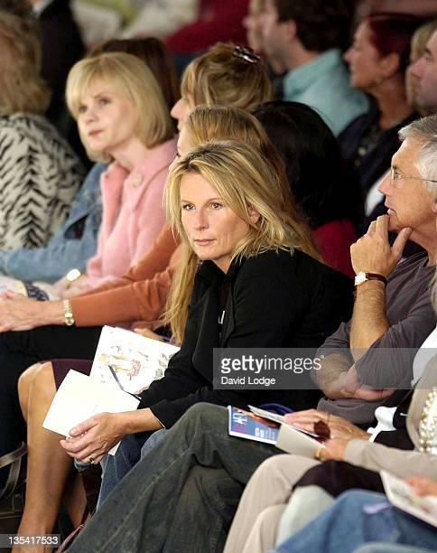 Jennifer Saunders during London Fashion Week Spring 2005 Betty Jackson Front Row at BFC Tent London in London Great Britain