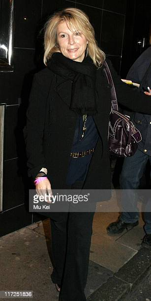 Jennifer Saunders during Smaller at the Lyric Theatre in London Departures at Lyric Theatre in London Great Britain