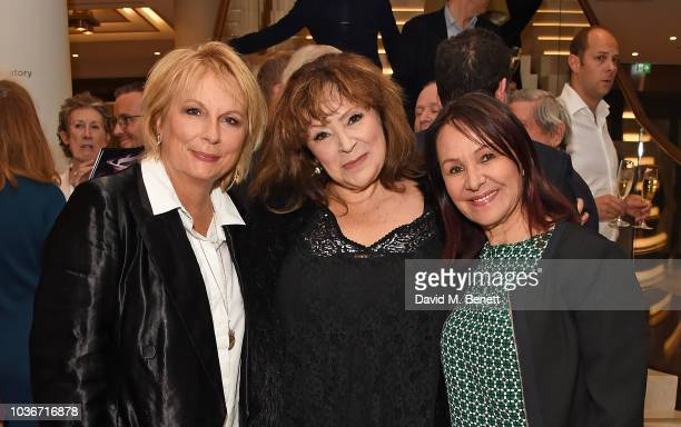 Jennifer Saunders, Harriet Thorpe and Arlene Phillips attend the re-opening of the Royal Opera House on September 20, 2018 in London, England.