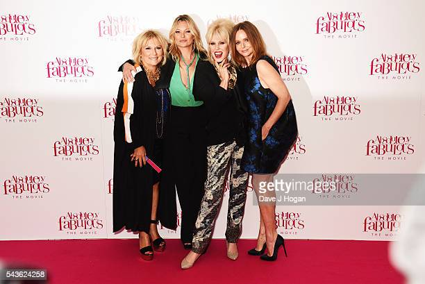 Jennifer Saunders Kate Moss Joanna Lumley and Stella McCartney attend the World Premiere of 'Absolutely Fabulous The Movie' at Odeon Leicester Square...
