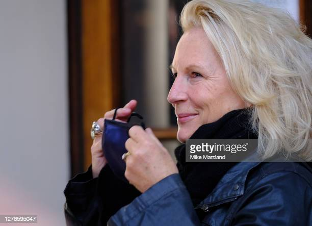 Jennifer Saunders takes part in a Silent Stand at Gielgud Theatre on October 05, 2020 in London, England. The stand is to show solidarity with those...