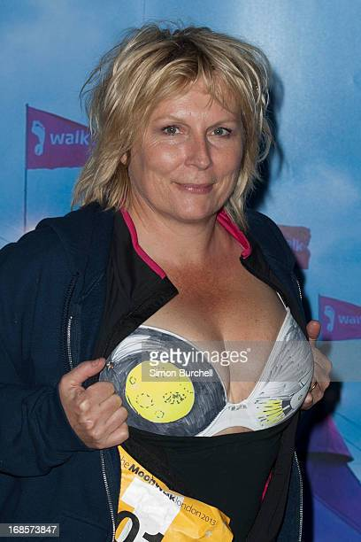 Jennifer Saunders takes part in The Moonwalk London at battersea park on May 11 2013 in London England