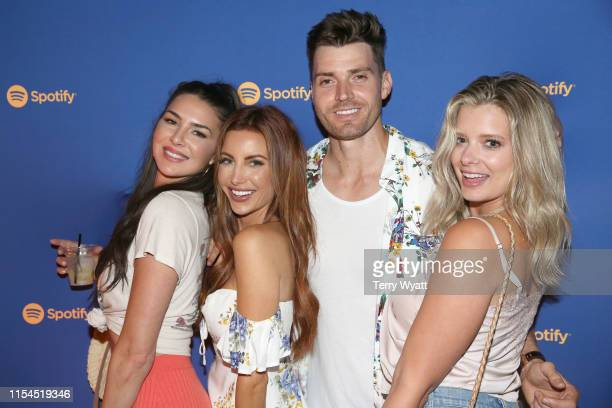 Jennifer Saviano Holly Allen Luke Pell and Reagan Agee visit Spotify House during CMA Fest at Ole Red on June 07 2019 in Nashville Tennessee