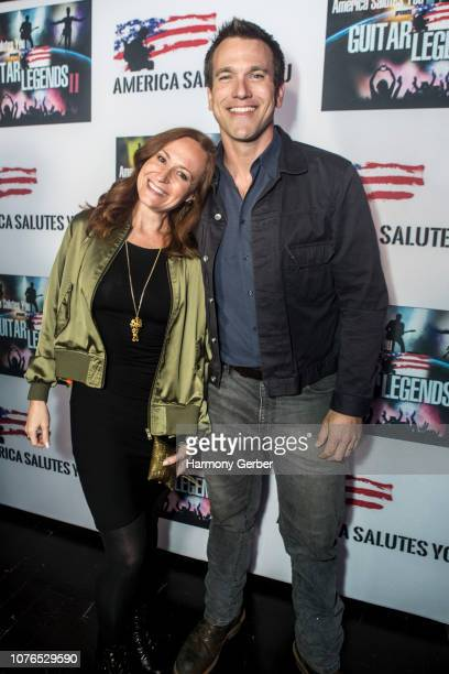 Jennifer Schemke and Adam Mayfield attend Guitar Legends II presented by America Salutes You at The Novo by Microsoft on December 02 2018 in Los...