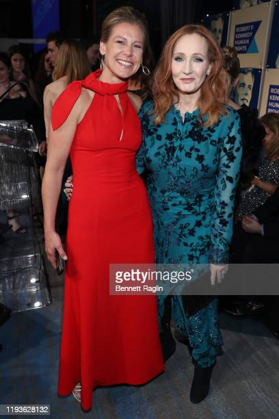 Jennifer Schneider and JK Rowling attend the Robert F Kennedy Human Rights Hosts 2019 Ripple Of Hope Gala Auction In NYC on December 12 2019 in New...