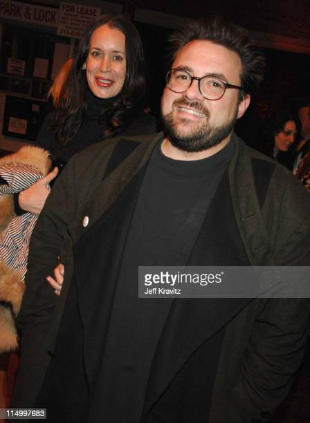 Jennifer Schwalbach Smith and Kevin Smith during Grindhouse Los Angeles Premiere After Party in Los Angeles California United States