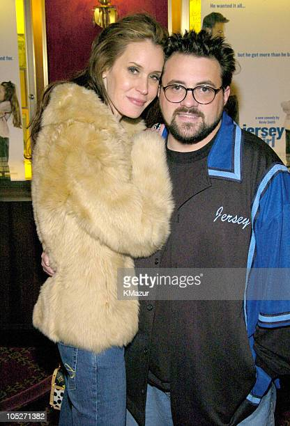 Jennifer Schwalbach Smith and Kevin Smith during Jersey Girl New York Premiere at The Ziegfeld Theater in New York City New York United States