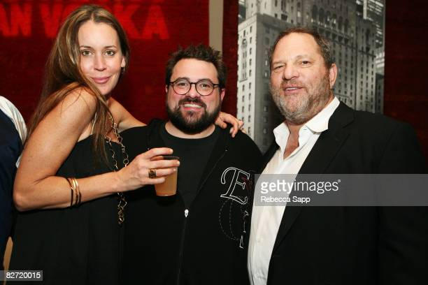Jennifer Schwallach Smith director Kevin Smith and Harvey Weinstein attend the after party for Zack and Miri Make a Porno held at W Studio during the...