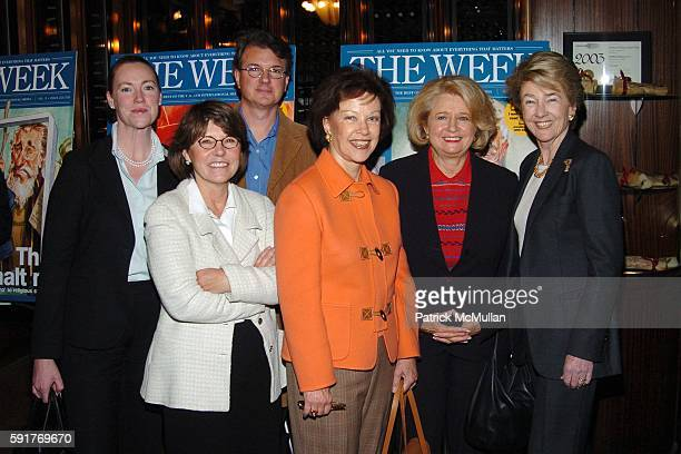 Jennifer Scully Margaret Carlson Mark Hussey Karen Lerner and Elizabeth Rohatyn attend THE WEEK at Grand Central a series of conversations Can...