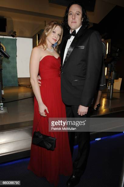 Jennifer Serdienis and Aaron Cohen attend THE HUFFINGTON POST PreInaugural Ball at The Newseum on January 19 2009 in Washington DC