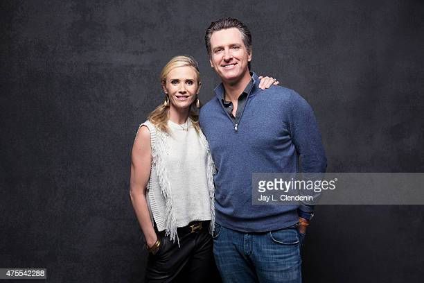 Jennifer Siebel Newsom and Gavin Newsom from the film 'The Mask You Live In' pose for a portrait for the Los Angeles Times at the 2015 Sundance Film...