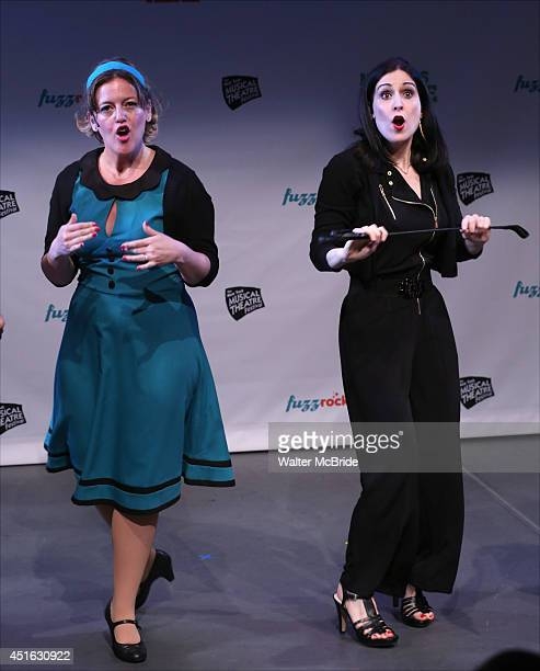Jennifer Simard and Stephanie D'Abruzzo and from 'Academia Nuts' at a special preview of the 2014 New York Musical Theatre Festival at Ford...