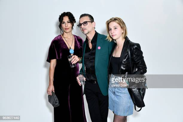 Jennifer Sklias-Gahan, Dave Gahan and Stella Rose Gahan attend Planned Parenthood Of New York City Spring Gala Honoring Cecile Richards And Laverne...