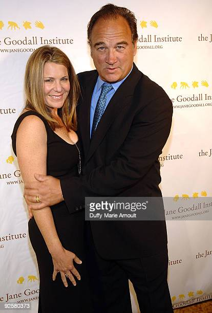 Jennifer Sloan and actor James Belushi attend the Third Annual Jane Goodall Global Leadership Awards at The Beverly Wilshire Hotel on October 30 2009...