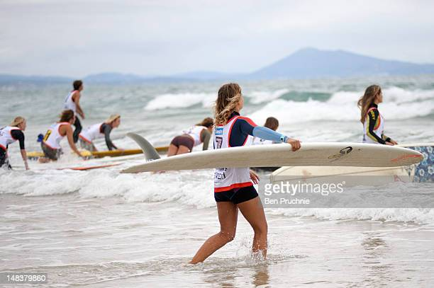 Jennifer Smith competes during the Kassia Meador Invitational at the Roxy Pro Biarritz on July 11 2012 in Biarritz France