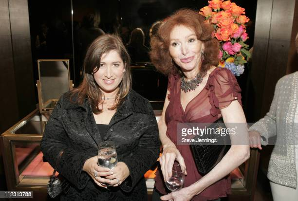 Jennifer Smith Hale and Ann Getty during C Magazine Launch at Boucheron in San Francisco California United States