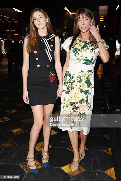 Jennifer Stallone and Scarlet Stallone attend the Dolce Gabbana show during Milan Men's Fashion Week Fall/Winter 2017/18 on January 14 2017 in Milan...