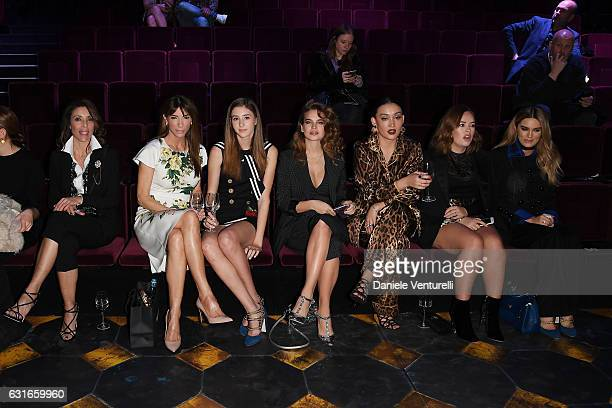 Jennifer Stallone Gina Dallas Scarlet Stallone Chloe Lloyd and Alana O'Herlihy Sofia Richie and Stormi Henley attend the Dolce Gabbana show during...