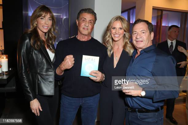 """Jennifer Stallone, Sylvester Stallone, Kelly Noonan Gores and Alec Gores attend Book Launch Party For Kelly Noonan Gores' """"Heal"""" at Spring Place on..."""