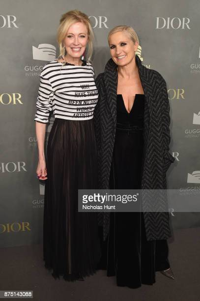 Jennifer Stockman and Maria Grazia Chiuri attend the 2017 Guggenheim International Gala made possible by Dior on November 16 2017 in New York City
