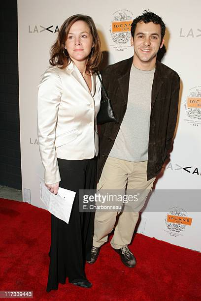 Jennifer Stone and Fred Savage during 10 Cane Rum Hosts the LA Art Silent Auction Party November 5 2005 at MC Gallery in Los Angeles California...