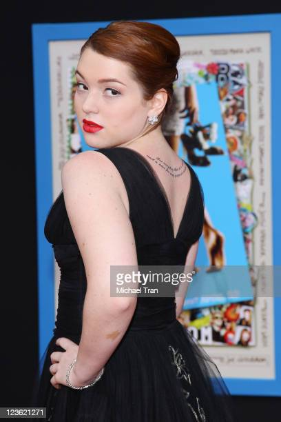 Jennifer Stone arrives at the Los Angeles premiere of Disney's PROM held at the El Capitan Theatre on April 21 2011 in Hollywood California