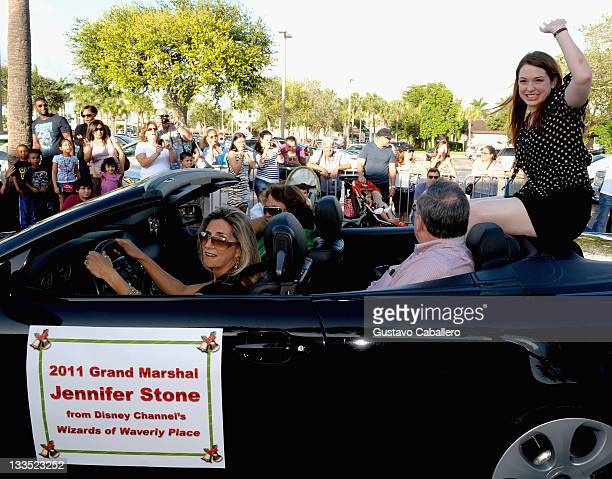 Jennifer Stone is Grand Marshal For The 15th Annual Holiday Parade on November 19 2011 in Miami Florida