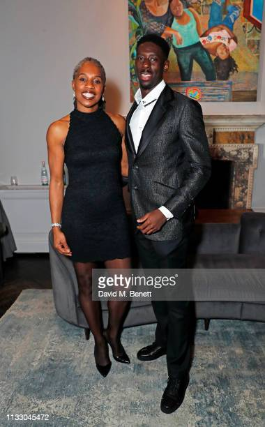 Jennifer Stout and Reece Prescod attend a private dinner hosted by Louis XIII with cellar master Baptiste Loiseau at The Arts Club on March 26, 2019...