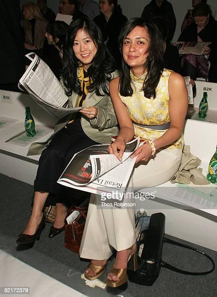 Jennifer Sunwoo merchandise manager at Begdorff Goodman and Poopal Patel womens Fashion Director at Bergdorff Goodman attends the Jeffrey Chow Fall...