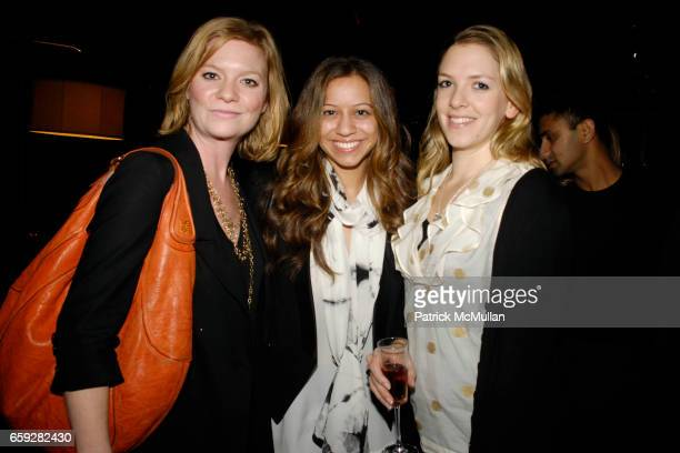 Jennifer Talbott Katy Cockrel and Sarah Hadgson attend SUSAN WOO FALL 2009 COLLECTION and LAUNCH PARTY at Above Allen on February 10 2009 in New York...