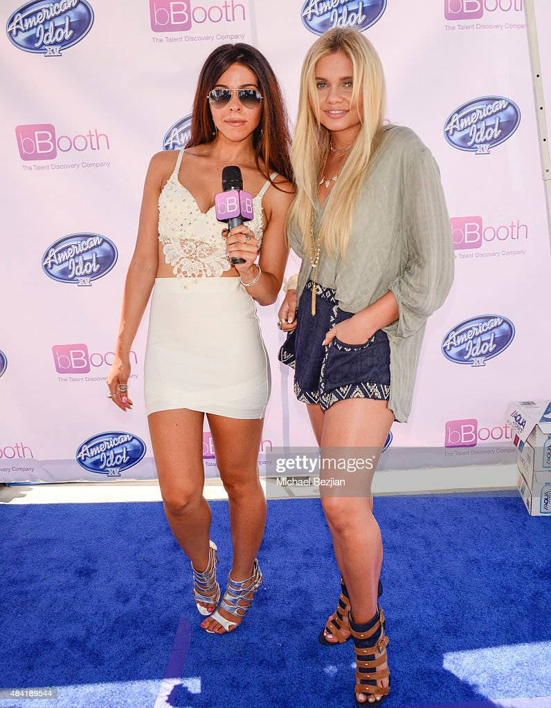 Jennifer Tapiero and Alli Simpson attend American Idol Auditions At bBooth on August 15, 2015 in Culver City, California. (Photo by Michael Bezjian/Getty Images for bBooth, Inc.