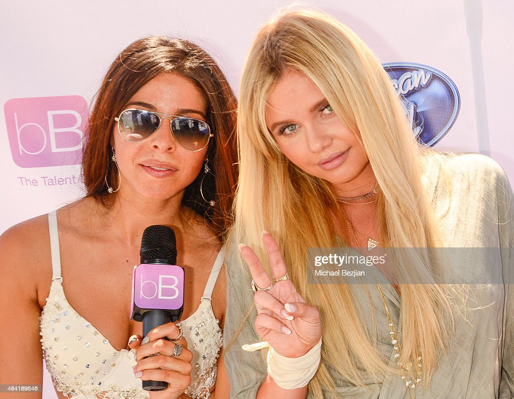 Jennifer Tapiero and Alli Simpson attend American Idol Auditions At bBooth on August 15, 2015 in Culver City, California.