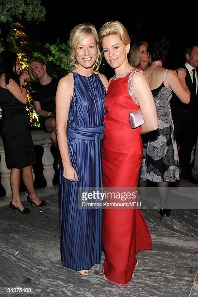 Jennifer Tapper and actress Elizabeth Banks attend the Bloomberg Vanity Fair cocktail reception following the 2011 White House Correspondents'...