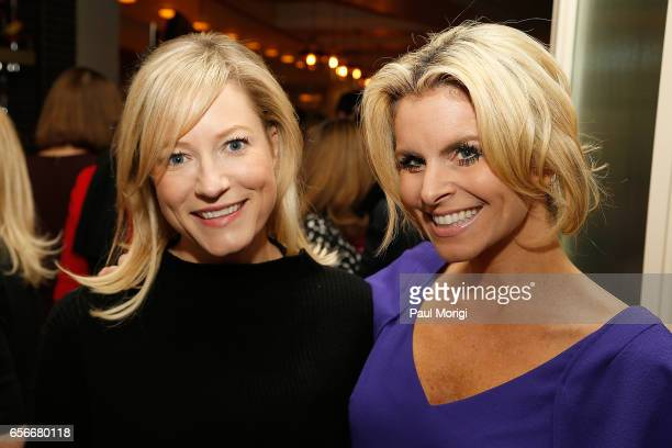 Jennifer Tapper and Adrienne Eldrod attend ELLE and Bottega Veneta Women in Washington dinner hosted by Robbie Myers ELLE EditorinChief at Fiola Mare...