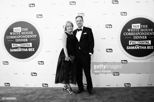 Jennifer Tapper and Jake Tapper attend Full Frontal With Samantha Bee's Not The White House Correspondents' Dinner at DAR Constitution Hall on April...